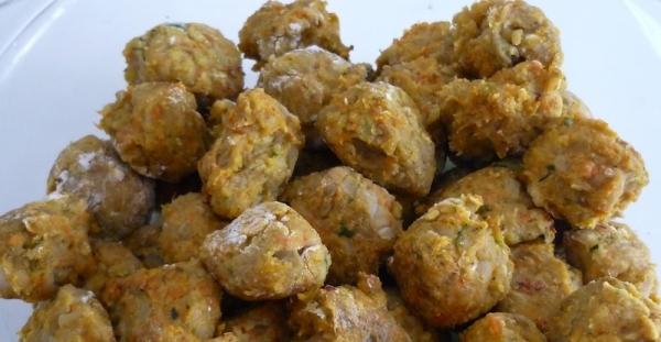 Albondigas de vegetales the cook monkeys for Albondigas de verduras