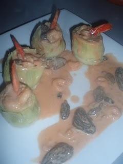 Alcachofas con cangrejo