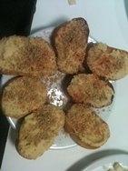 Berenjenas cubiertas con hummus