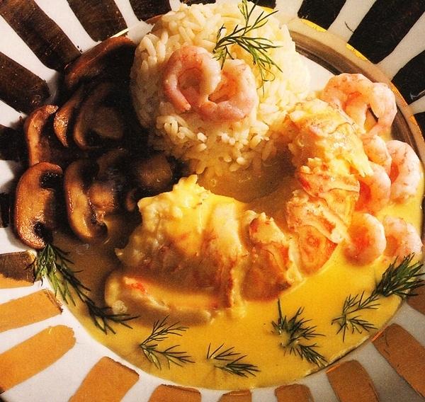 Bogavante con salsa de camarones