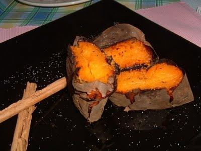 Boniatos asados al horno
