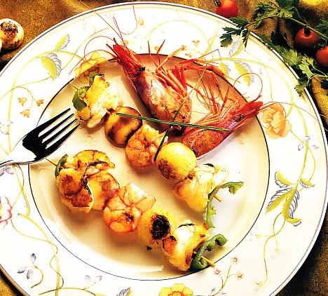 Broquetas de pescado