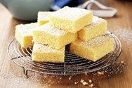 Brownies de limón y coco
