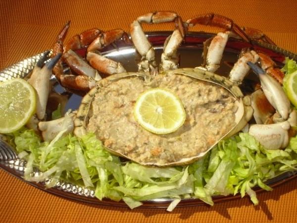 Buey de mar en salsa