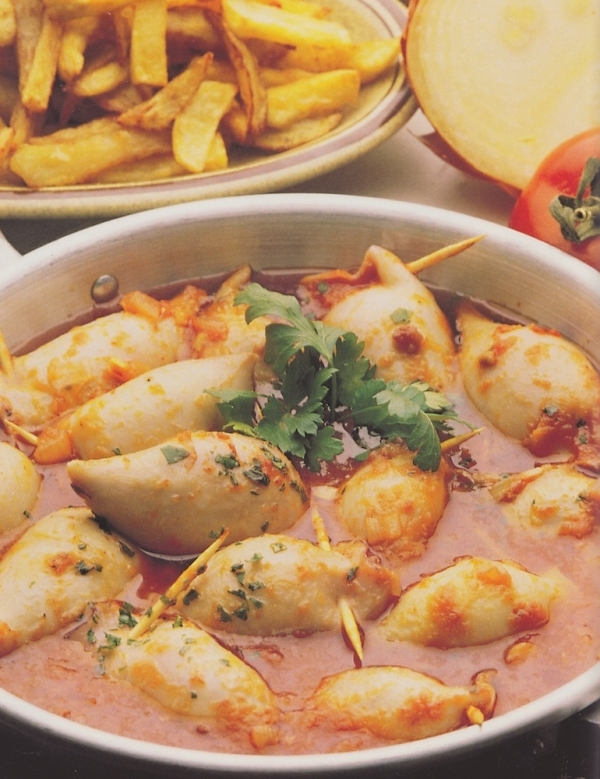 Calamares rellenos al estilo de El Algarve