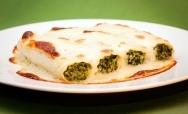 Canelones de espinacas y queso