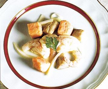 Ceviche de pescados y marisco