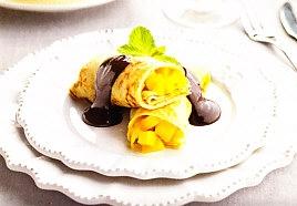 Crêpes con mango