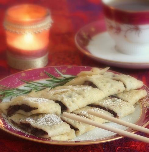 Crêpes con pasta dulce de judías