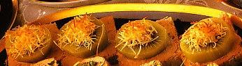 Discos de kiwi y anchoas
