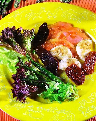 Ensalada con mojama y mozzarella