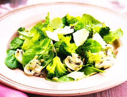Resultado de imagen para ensalada de brocoli, pepino  y champiñones