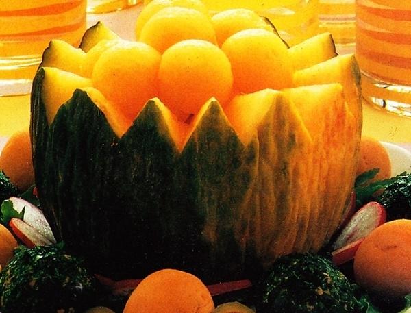 Ensalada de melón a la menta