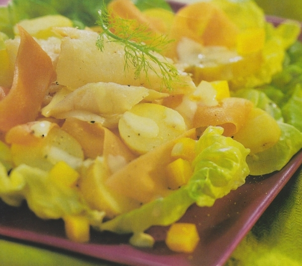 Ensalada de patatas y bacalao ahumado