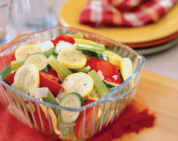 Ensalada de vegetales aromatizados