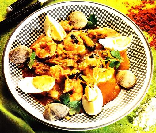 Gratén de frutos de mar