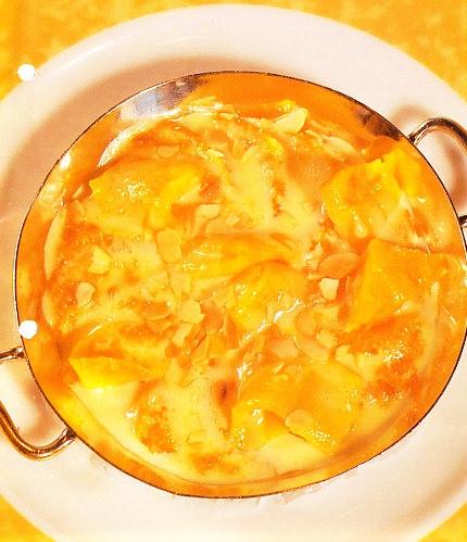 Gratinado de naranjas y mango