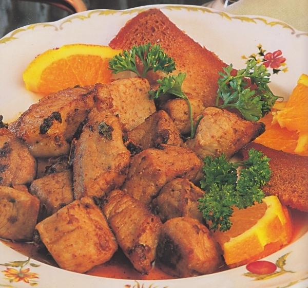 Lomo de cerdo con marinada de vino y ajos