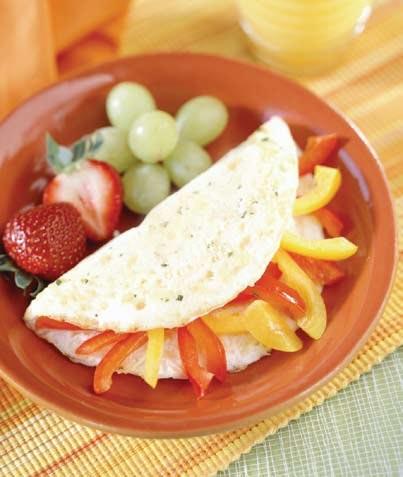 Omelet de pimientos rojos y amarillos