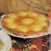Pastel de melocotón y crema de almendras