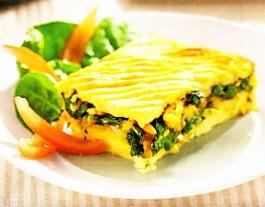 Pastel de patata y verdura