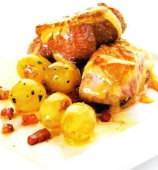 Pato con uvas y salsa de oporto