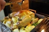Pollo con manzanas