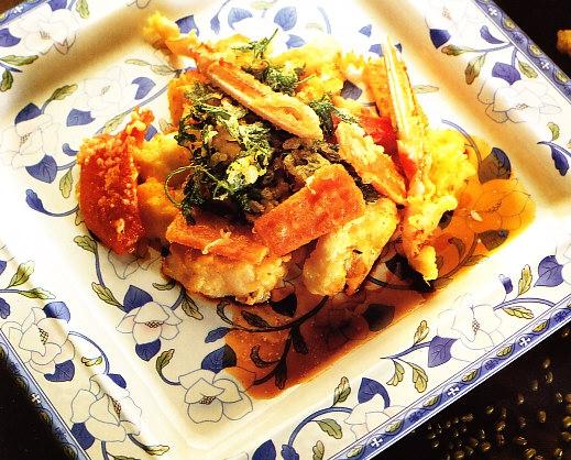 Tempura de marisco y verduras