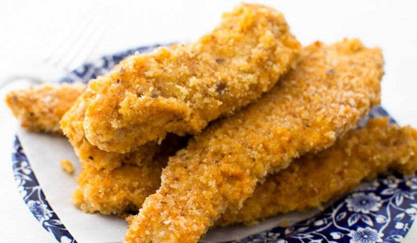 Tiras de pollo picantes