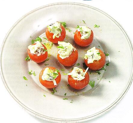 Tomatitos rellenos de pavo