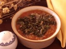 Acelgas con salsa de tomate