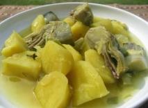 Alcachofas con patatas