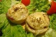 Alcachofas rellenas de queso de oveja