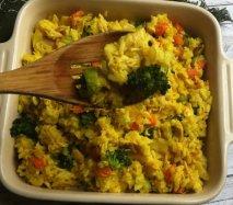Arroz basmati con brócoli al curry