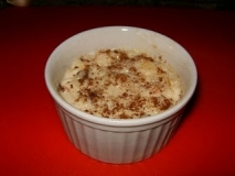 Arroz con leche y frutos secos