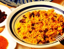 Arroz con pasas al curry