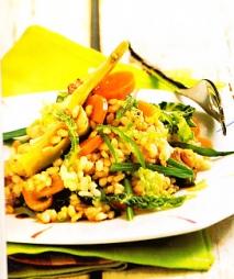 Arroz vegetal con salsa de soja