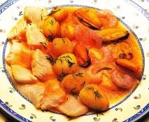Bacalao con frutos del mar