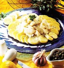 Bacalao frío con patatas