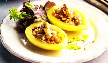 Barquitas de patata rellenas con champiñones