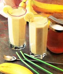 Batido de vainilla y plátano