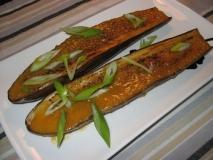 Berenjena  con salsa de miso (nasu dengaku)