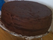 Bizcocho de chocolate para tarta fondant