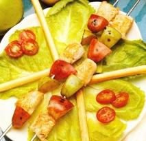 Bocaditos de pavo y manzana