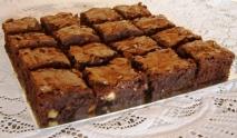 Brownie express en microondas