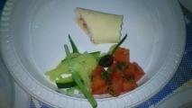 Canelón de ricota y tomates secos