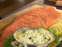 Carpaccio de salmón con ensalada de patatas