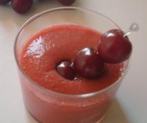 Cerezas con zumo de naranjas