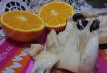 Chirimoyas con zumo de naranja