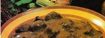Civet de rebeco con setas de calabaza